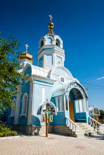 Orthodox church of Besalma, Gagauzia, Moldovaの写真素材 [FYI03812194]