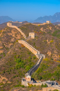 Great Wall of China, dating from Ming Dynasty, Jinshanling, Luanping County, Hebei Provinceの写真素材 [FYI03812237]