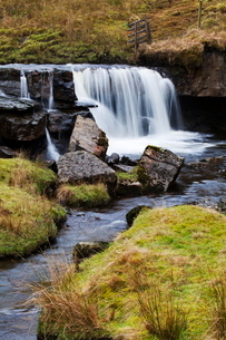 Clough Force on Grisedale Beck near Garsdale Head, Yorkshire Dales, Cumbriaの写真素材 [FYI03812279]