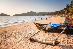 Palolem Beach, Goa, India, Asiaの写真素材 [FYI03812449]