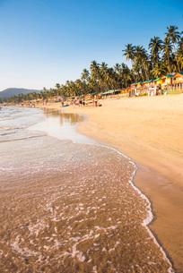 Palolem Beach, Goa, Indiaの写真素材 [FYI03812451]