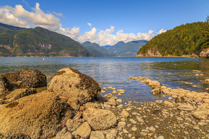 How Sound from Furry Creek off The Sea to Sky Highway near Squamish, British Columbia, Canada, Northの写真素材 [FYI03812755]