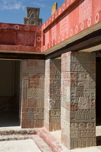 Patio of the Pillars, Teotihuacan Archaeological Zone, UNESCO World Heritage Site, State of Mexico,の写真素材 [FYI03812772]