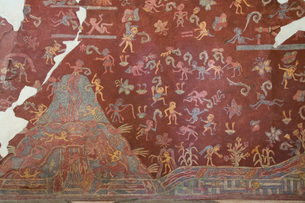 Wall Mural, El Tlalocan, Tlaloc's Paradise, Palace of Tepantitla, Teotihuacan Archaeological Zone, Uの写真素材 [FYI03812776]
