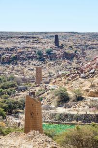 Fortified village near Abha, Saudi Arabia, Middle Eastの写真素材 [FYI03812856]