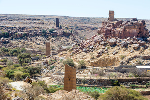 Fortified village near Abha, Saudi Arabia, Middle Eastの写真素材 [FYI03812858]