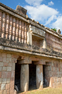 Mayan Ruins, The Palace, Puuc Style, Chacmultun Archaeological Zone, Chacmultan, Yucatan, Mexico, Noの写真素材 [FYI03812882]