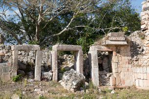 Mayan Ruins, The Palace, Puuc Style, Chacmultun Archaeological Zone, Chacmultan, Yucatan, Mexico, Noの写真素材 [FYI03812887]