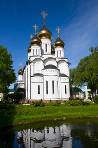 St. Nicholas Cathedral, Nikolsky Women's Monastery (Convent), Pereslavl-Zalessky, Golden Ring, Yarosの写真素材 [FYI03812969]