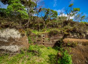 Rock Labyrinth, Asilo de la Paz, Highlands of Floreana (Charles) Island, Galapagos, UNESCO World Herの写真素材 [FYI03813137]