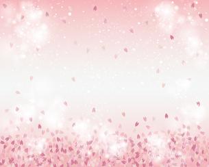 桜 花吹雪 背景のイラスト素材 [FYI03813304]