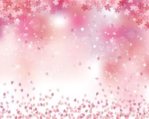 桜 花吹雪 背景のイラスト素材 [FYI03813527]