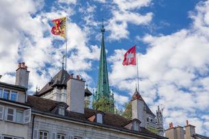 スイス、ジュネーブ旧市街の写真素材 [FYI03813568]