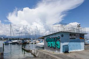 スイス、ジュネーブ、レマン湖の風景の写真素材 [FYI03813725]