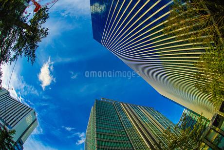 横浜みなとみらいのオフィス街と秋空の写真素材 [FYI03813998]