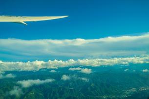 飛行機から見える台湾の風景の写真素材 [FYI03814036]
