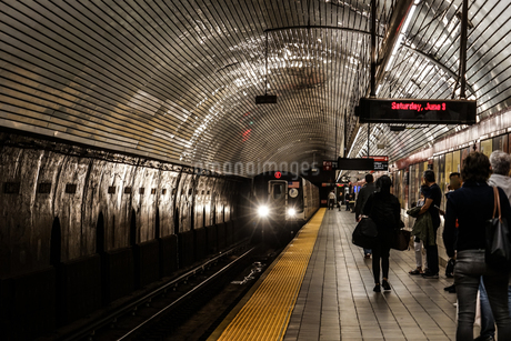 ニューヨークの地下鉄のイメージの写真素材 [FYI03814091]