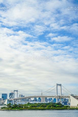 お台場から見える東京都内の街並みの写真素材 [FYI03814102]