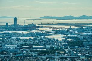 あべのハルカスからの大阪の街並みの写真素材 [FYI03814158]