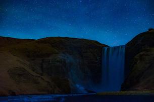 アイスランドのスコゥガフォスの滝の写真素材 [FYI03814175]