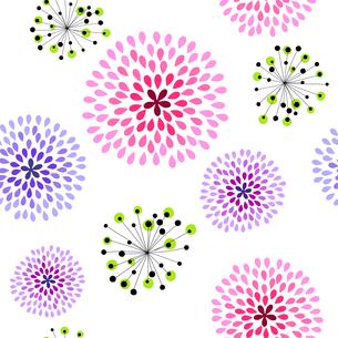 花のデザイン シームレスパターンのイラスト素材 [FYI03814296]