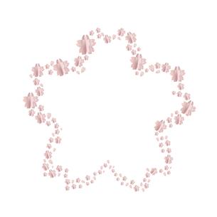 桜 クラフト フレームのイラスト素材 [FYI03814628]