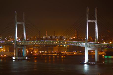 神奈川県・横浜みなとみらいの夜景の写真素材 [FYI03814715]