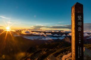 鷲羽岳 日の出の写真素材 [FYI03814725]