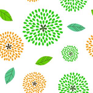 花柄 シームレスパターンのイラスト素材 [FYI03815186]