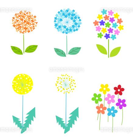 春の花のデザインイラストのイラスト素材 [FYI03815192]