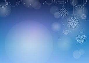 ハートのオーナメントの背景イメージ(横:右)のイラスト素材 [FYI03815260]