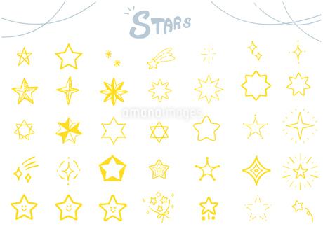 手描き 星のイラスト セットのイラスト素材 [FYI03815314]