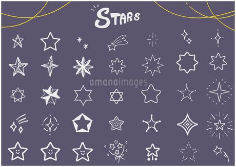 手描き 星のイラスト セットのイラスト素材 [FYI03815315]