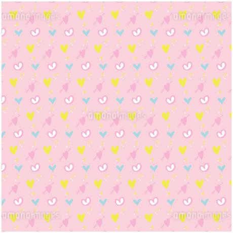 手描きのハート シームレスパターン イラストのイラスト素材 [FYI03815317]