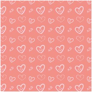 手描きのハート シームレスパターン イラストのイラスト素材 [FYI03815318]