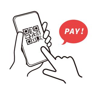 スマートフォン 支払い イラストのイラスト素材 [FYI03815341]