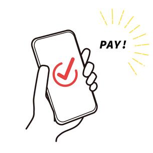 スマートフォン 支払い イラストのイラスト素材 [FYI03815342]