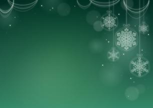 雪の結晶のオーナメントの背景画像のイラスト素材 [FYI03815829]
