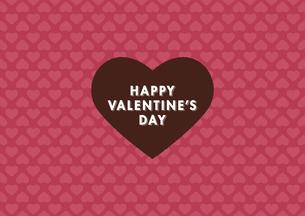 バレンタインデー用の「小さなハート」の背景イメージ(横)のイラスト素材 [FYI03815851]