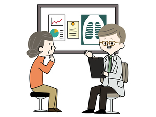 診察-シニア女性-医者のイラスト素材 [FYI03816028]