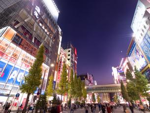 夕暮れの秋葉原電気街の写真素材 [FYI03816226]