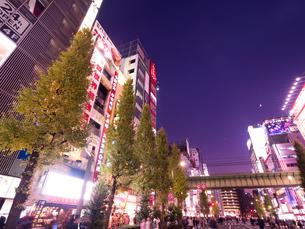 夕暮れの秋葉原電気街の写真素材 [FYI03816228]