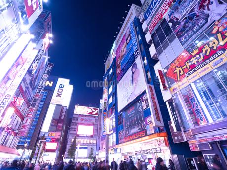 夕暮れの秋葉原電気街の写真素材 [FYI03816233]