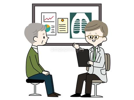 診察-シニア男性-医者のイラスト素材 [FYI03816311]