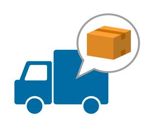 トラックの荷物宅配のイラスト素材 [FYI03816695]