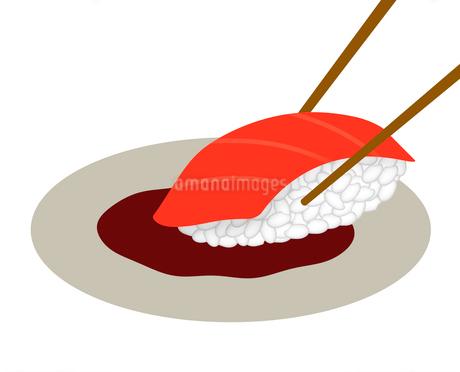 しょう油をつけた寿司のイラスト素材 [FYI03816726]
