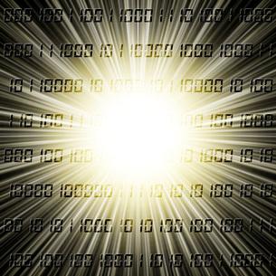 光とデジタル数字のイラスト素材 [FYI03816801]
