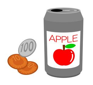 リンゴジュースと代金のイラスト素材 [FYI03816802]