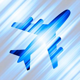 飛行機のシルエットのイラスト素材 [FYI03816805]