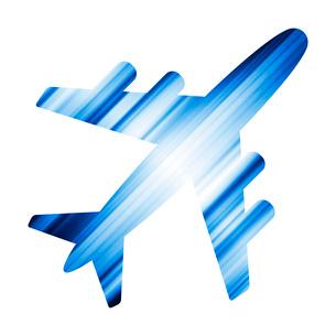 飛行機のシルエットのイラスト素材 [FYI03816811]